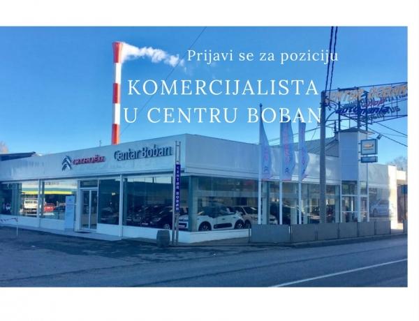 Prijavite se za komercijalistu u Centar Boban