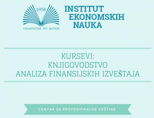 Institut ekonomskih nauka je spremio kurseve za Vas