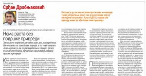 Srđan Dronbnjaković direktor Unije poslodavaca Srbije - autorski tekst NIN 09-07-20