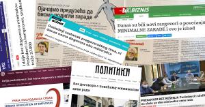 Pregovori o minimalnoj ceni rada minimalac Unija poslodavaca Srbije Mediji o ups