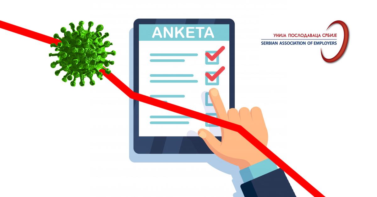 anketa o uticaju pandemije covid-19 na poslovanje preduzeća - unija poslodavaca srbije