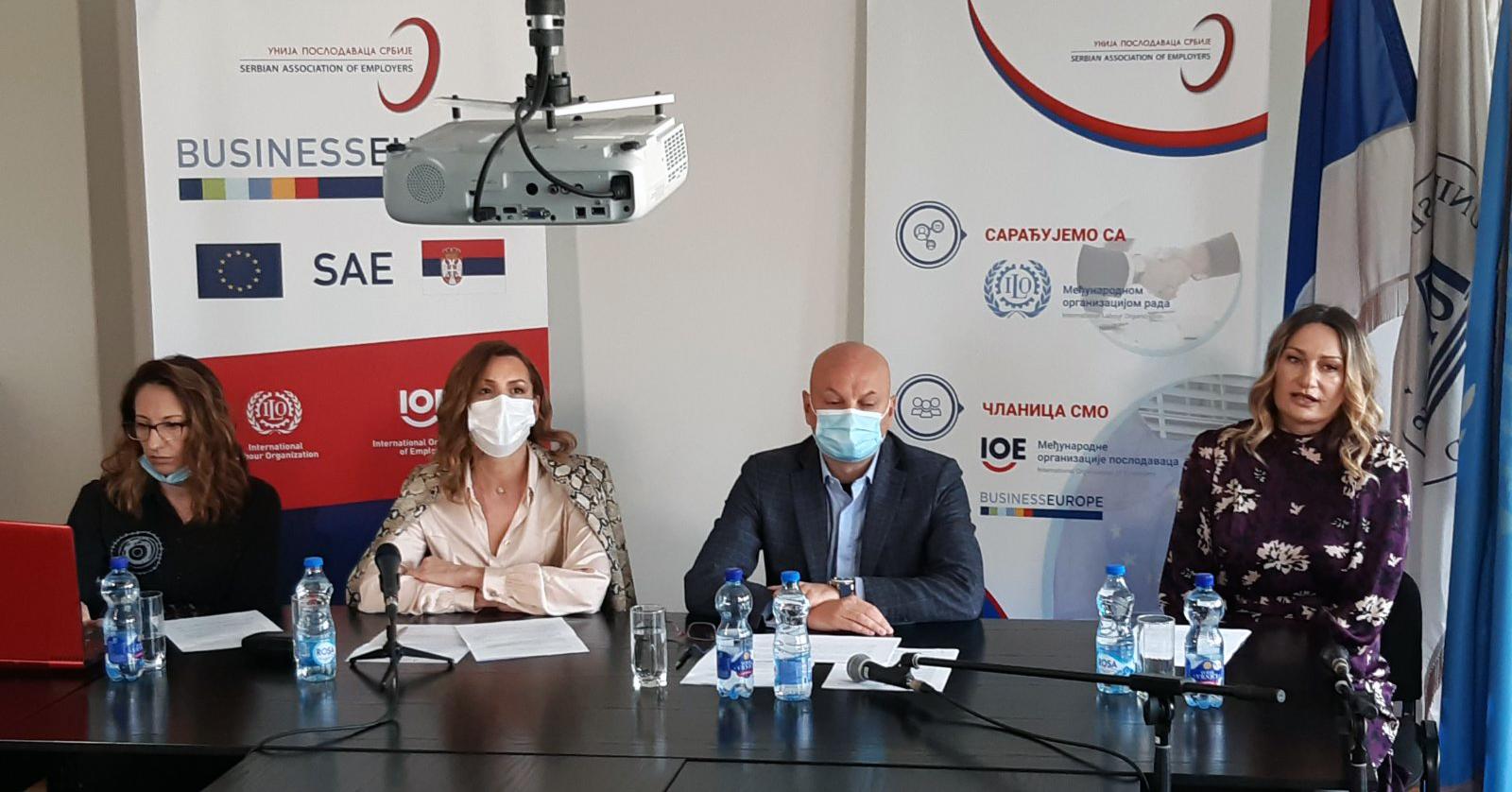 Unija poslodavaca Srbije - konferencija za medije 24.03.2021.
